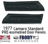 1977 Camaro PRE Assembled STANDARD Door Panels NEW 4  Colors Available