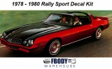 1978 - 1980 Camaro Rally Sport Decal Kit