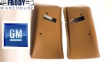 1977 - 1981 Camaro Trans Am Upper Seat Belt Covers GM Camel Tan