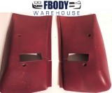 1977 - 1981 Camaro Trans Am Upper Seat Belt Covers GM Carmine red