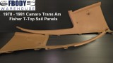 1978 - 1981 Camaro Trans Am Sail Panel USED GM Camel for T-top Cars PAIR