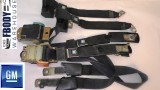 1978 - 1981 Camaro Trans Am Black FULL Seat Belt Set GM