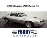 1978 Camaro Z28 Decal Kit All Factory Colors!