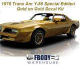 1978 Trans Am SE Gold On Gold Special Edition Decal Kit Y88