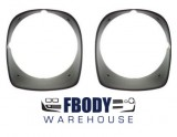 1978 - 1981 Camaro Z28 Head Light Bezels NEW BLACK BUCKETS