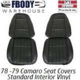 1978 - 1979 Camaro STANDARD Front & Rear Seat Covers VINYL