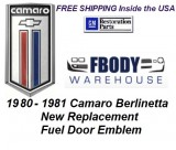 1980 - 1981 Camaro Berlinetta Fuel Door Emblem NEW