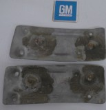 1979 - 1981 Trans Am Firebird Rear Spoiler End Caps Inner Braces GM Pair
