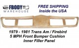 1979 - 1981 Trans Am Front Bumper Cover Inner Liner Cushion NEW