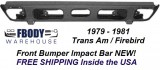 1979 - 1981 Trans Am Front Bumper Impact Bar NEW