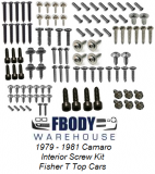 1979 - 1981 Camaro Interior Screw Kit Fisher T Top