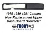 1982 - 1992 Camaro Dash Board NEW Reproduction