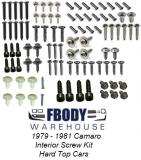 1979 - 1981 Camaro Interior Screw Kit Hardtop