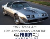 1979 Trans Am 10th Anniversary Decal Kit w/ FREE Shaker Decal Upgrades!