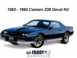 1982 - 1984 Camaro Z28 Decal Kit (9 Available Color Combinations)