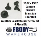 1982 - 1992 Camaro Trans Am Door Hull Weather Seal Retainer Screws 4 Pc Kit