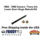 1982 - 1992 Camaro / Trans Am Lower Door Hinge Rebuild Kit (Bushings & Pin)