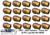 1982 - 1992 Camaro Trans Am Lug Nuts Set of 20 NEW