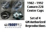 1982 - 1992  Camaro Z28 Center Caps Set NEW Set of Four