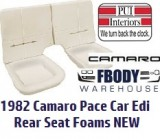 1982 Camaro Pace Car Rear Seat Foams NEW