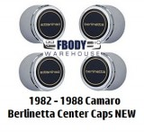 1982 - 1988  Camaro Berlinetta Center Caps NEW Set of Four