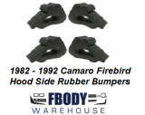 1982 - 1992 Camaro Firebird Hood Side Ledge Rubber Bumpers 4 Pc