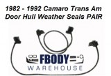 1982 - 1992 Camaro Trans Am Door Hull Weather Seals PAIR Muscle Car Industries