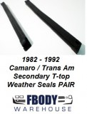 1982 - 1992 Camaro Trans Am T Top Secondary Weather Seals  PAIR Muscle Car Industries