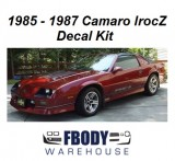 1985 - 1987 Camaro Iroc-Z Decal Kit (4 Factory Colors)
