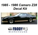 1985 - 1986 Camaro Z28 Decal Kit (6 Factory Colors Available)