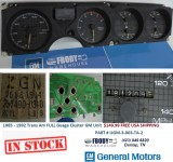 1985 -1992 Firebird Trans Am Gauge Cluster FULL GAUGES Complete GM V8