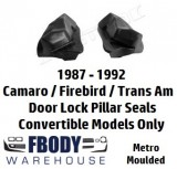 1987 - 1992 Camaro Trans Am Convertible Lock Pillar Seals Metro Moulded