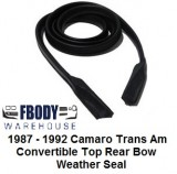 1987 - 1992 Camaro Trans Am Convertible Top Rear Bow Weather Seal
