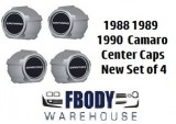 1988 - 1990 Camaro Center Caps Set NEW Set of Four