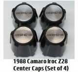 1988 Camaro IROC Z28 Center Caps Set NEW Set of Four