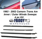 1993 - 2002 Camaro Trans Am Inner / Outer Window Sweeps 4 Piece Set