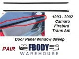 1993 - 2002 Camaro Trans Am Inner Window Sweeps Door Panel Side