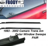 1993 - 2002 Camaro Trans Am Outer Window Sweeps PAIR