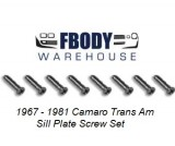 1967 - 1981 Camaro Trans Am Sill Plate Screw Set
