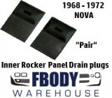 1968 - 1972 Nova Rocker Panel Drain Plug Rubber Flaps Pair
