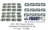 1970 – 1981 Camaro Trans Am Window Trim Clip Set 38pc w/ INSTALL VIDEO!