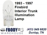 1993 - 2002 Firebird Trunk Lamp