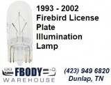 1993 - 2002 Firebird License Plate Illumination Lamp