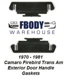 1970 - 1981 Camaro Trans Am Exterior Door Handle Gaskets