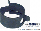 "9/16"" Pinch Hose Clamp for 5/16"" Line"