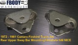 1972 - 1981 Camaro Trans Am Rear Sway Bar Mounting Brackets GM PAIR