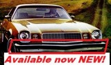 1974 - 1977 Camaro Front & Rear Bumper Rubber Bump Strip. NEW!