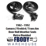 1982 - 1992 Camaro Trans Am Door Hull Weather Seals PAIR Metro Moulded