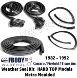 1982 - 1992 Weather Seal Kit HARD TOP Camaro Trans Am