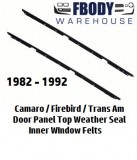 1982 - 1992 Camaro Trans Am INNER Window Sweeps